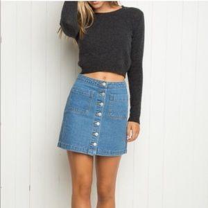 Brandy Melville Denim Skirt button down front